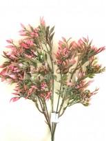 Ветка с мелкими ягодками Розовая пластик 38 см