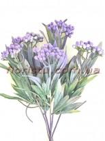 Добавка мимоза Винтаж искусственная дымчато-фиолетовая 30 см