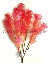 Трава водоросль пластик Розовая 36 см