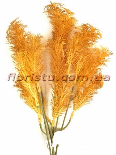 Трава водоросль пластик Оранжевая 36 см