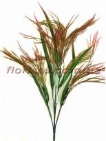 Трава с колосками пластиковая Розово-зеленая 65 см
