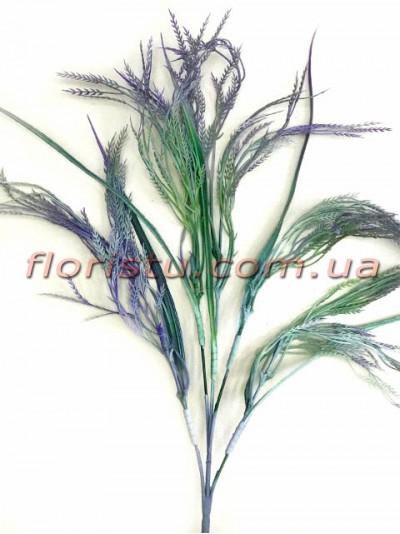 Трава с колосками пластиковая Фиолетовая 65 см