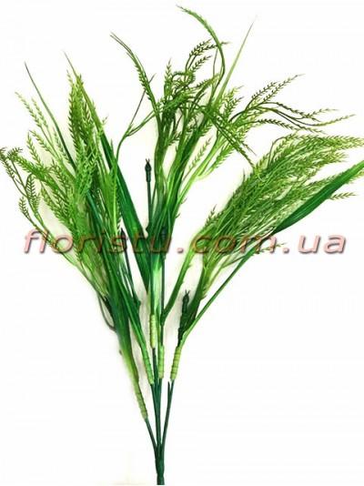 Трава с колосками пластиковая Зеленая 65 см