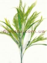 Трава с колосками пластиковая Желто-зеленая 65 см