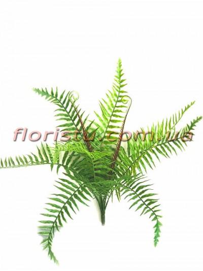 Папоротник искусственный Зеленый 40 см 8 листьев