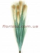 Пампасная трава искусственная Дымчатая 100 см 5 колосьев