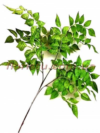 Ветка с листьями искусственная Зеленая 90 см