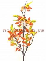 Ветка рябины с ягодами Осенняя Оранжевая 85 см