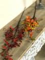 Ветка рябины с ягодами Осенняя Бордо 85 см