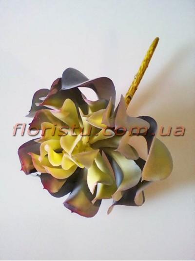Суккулент экзотический искусственный дымчато-серый 16 см
