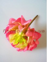 Суккулент экзотический искусственный салатово-розовый 16 см