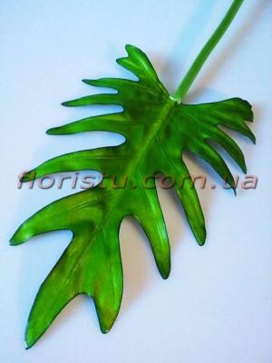 Лист филодендрона древовидного из латекса 26 см