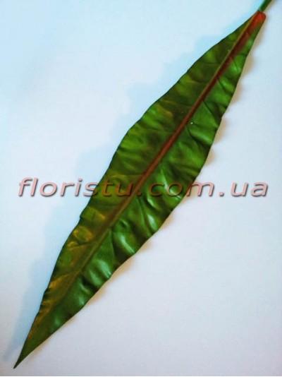 Лист филодендрона из латекса длинный зеленый 114 см