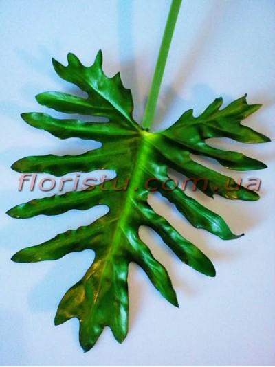 Лист филодендрона древовидного крупный из латекса 32 см