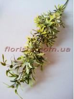 Ветка с мелкими листьями зеленая 78 см