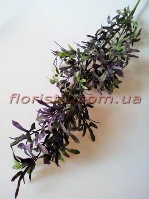 Ветка с мелкими листьями фиолет 78 см