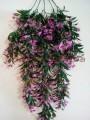 Лиана ампельная пластик с розовыми цветами 80 см