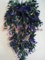 Лиана ампельная пластик с фиолетовыми цветами 80 см