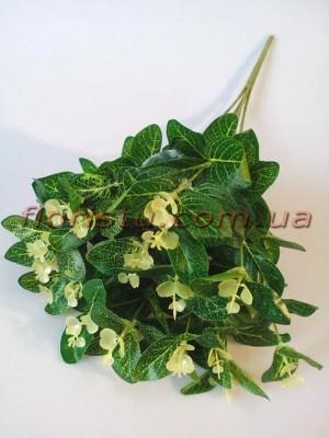 Эвкалипт искусственный зеленый пышный куст 50 см 20 веток