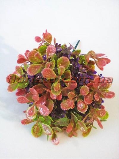Добавка флористическая бежево-розовая с фиолетовыми цветочками 35 см