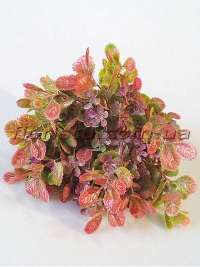 Добавка флористическая бежево-розовая с бордовыми цветочками 35 см