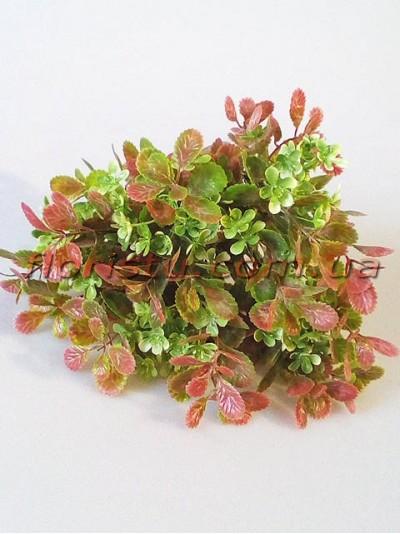 Добавка флористическая бежево-розовая с зелеными цветочками 35 см