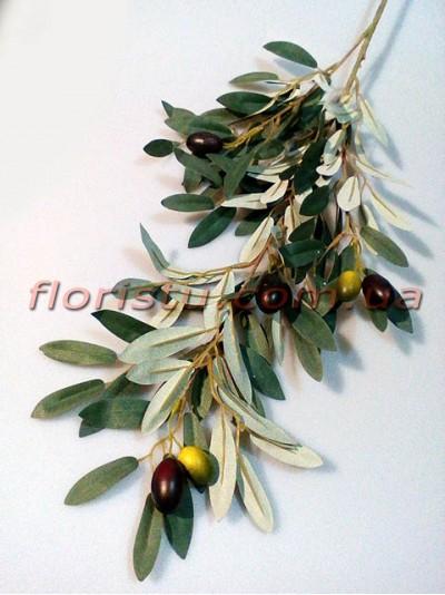 Ветка оливы с оливками искусственная премиум класса 86 см