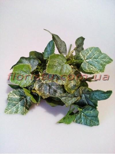 Кустик с листьями винограда дымчато-зелеными 28 см
