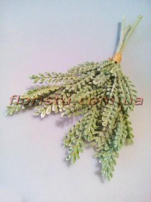 Веточки суккулента искусственного дымчато-зеленого пучек 3 шт. 35 см