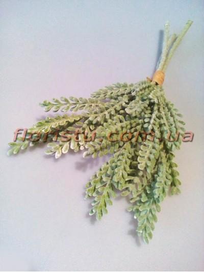 Веточки суккулента искусственного дымчато-зеленого пучок 3 шт. 35 см