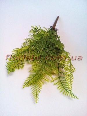Папоротник пластик мини Зеленый 7 веток 34 см