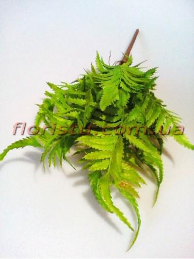 Папоротник нефролепсис премиум светло-зеленый 13 веток 40 см