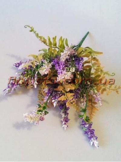 Букетик полевой с папоротником Фиолет 38 см