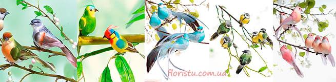 Птички для декора и свадебные голуби